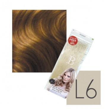 100Extensions Kératine Cheveux Naturels balmain N°L6 40 CM
