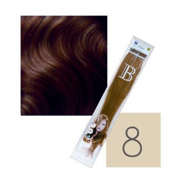 100Extensions Kératine Cheveux Naturels balmain N°L8 40 CM
