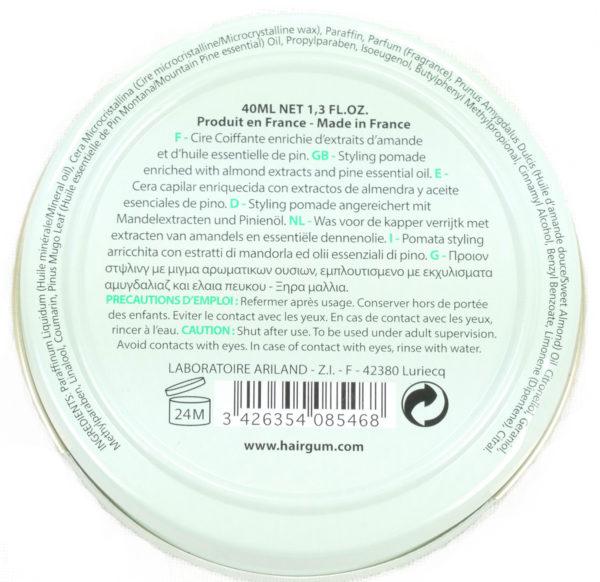Cire coiffante Amande & Pin - huiles essentielles