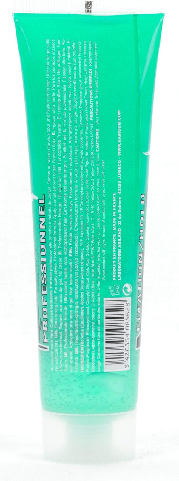 Gel Coiffant - Fixation Extra Forte - Cactus - 100g - Coiffures hérissées - Formule Professionnelle