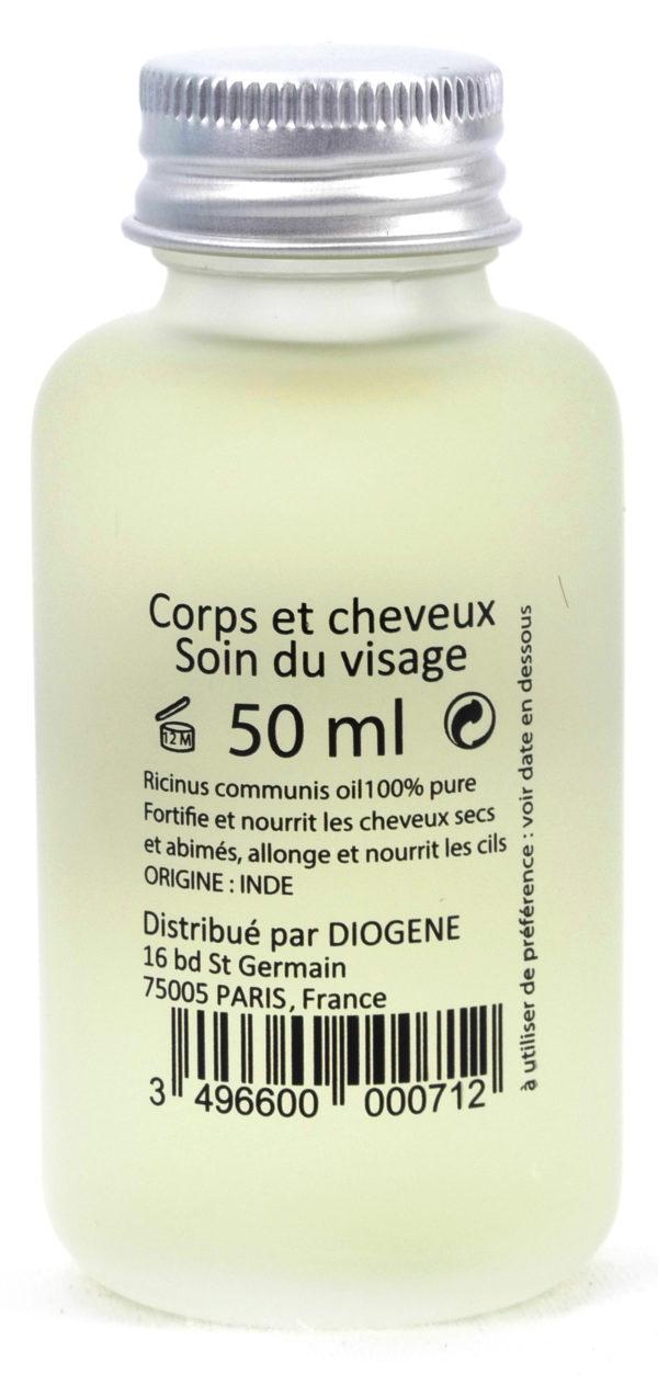 Huile de Ricin Pure - Corps et Cheveux - Soin du visage - 50Ml