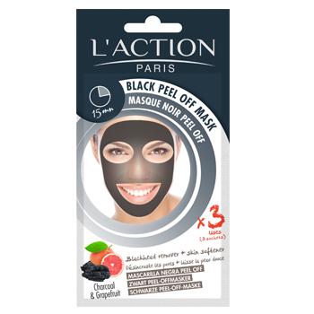 Masque Noir Peel Off au charbon - dites adieu aux points noirs, comédons, impuretés