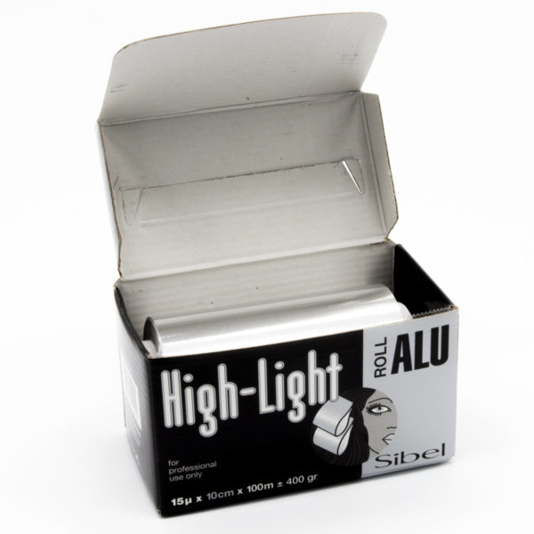 Papier Aluminium pour mèches / High-Light 15Mu x 15cm X 100m